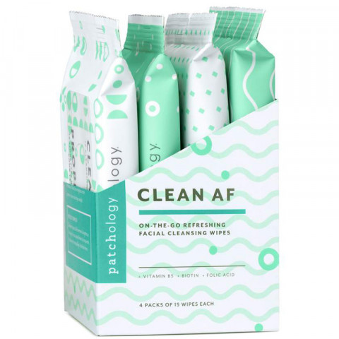 Clean AF On-the-Go Cleansing Wipes, 60 wipes