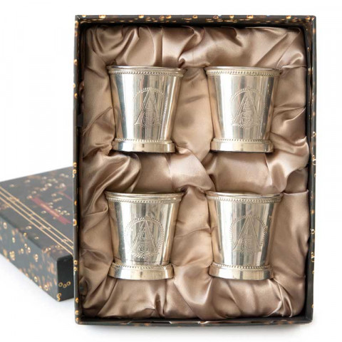 Collection Of Four Silver Votive Cups