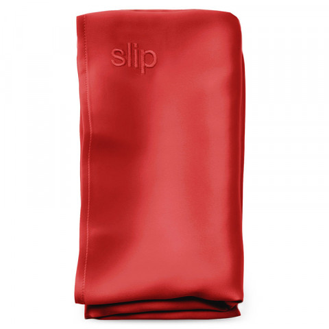 Limited Edition Pure Silk Pillowcase - Red, Queen