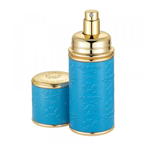 Blue Embossed & Gold Atomizer