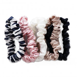 Silk Scrunchie, Multi 5-Pack